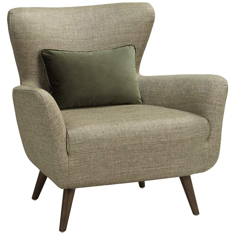 Adrienne Wood and Fabric Accent Chair