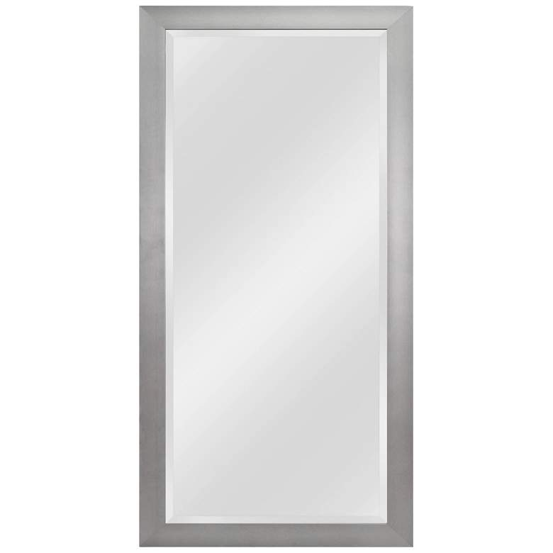 "Drake Brushed Steel 29 1/4"" x 63 1/4"" Floor Mirror"