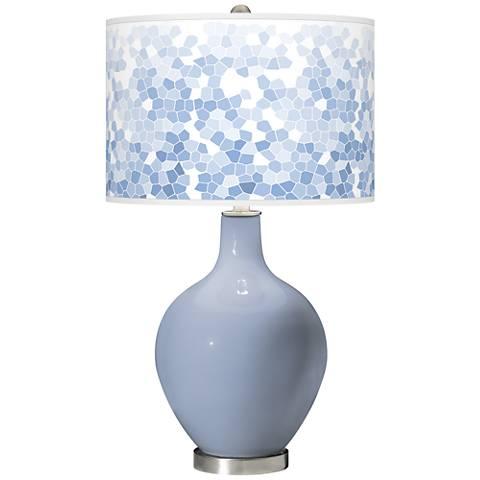 Blue Sky Mosaic Giclee Ovo Table Lamp