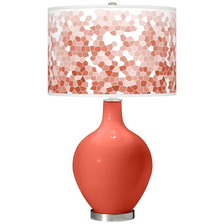 Koi Mosaic Giclee Ovo Table Lamp