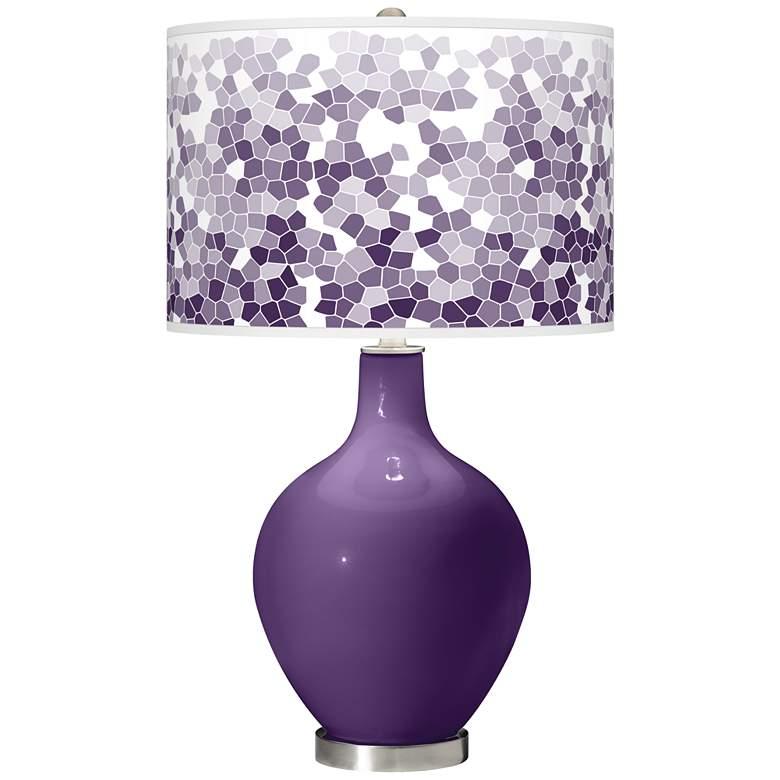 Acai Mosaic Giclee Ovo Table Lamp