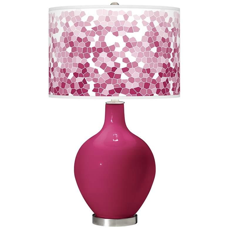 Vivacious Mosaic Giclee Ovo Table Lamp