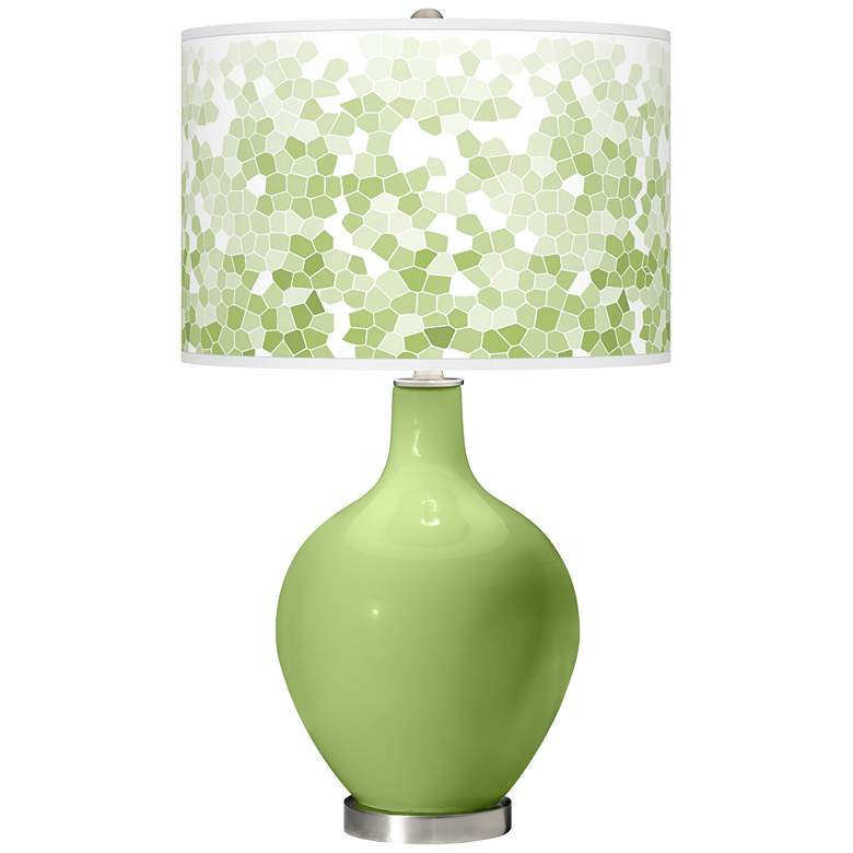 Lime Rickey Mosaic Giclee Ovo Table Lamp