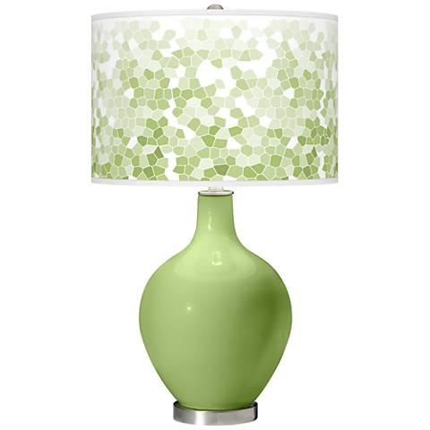 Lime Rickey Mosaic Giclee Ovo Table Lamp