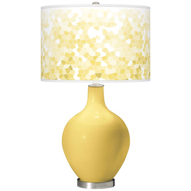 Daffodil Mosaic Giclee Ovo Table Lamp