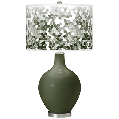Secret Garden Mosaic Giclee Ovo Table Lamp