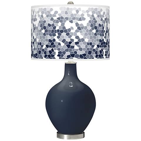 Naval Mosaic Giclee Ovo Table Lamp