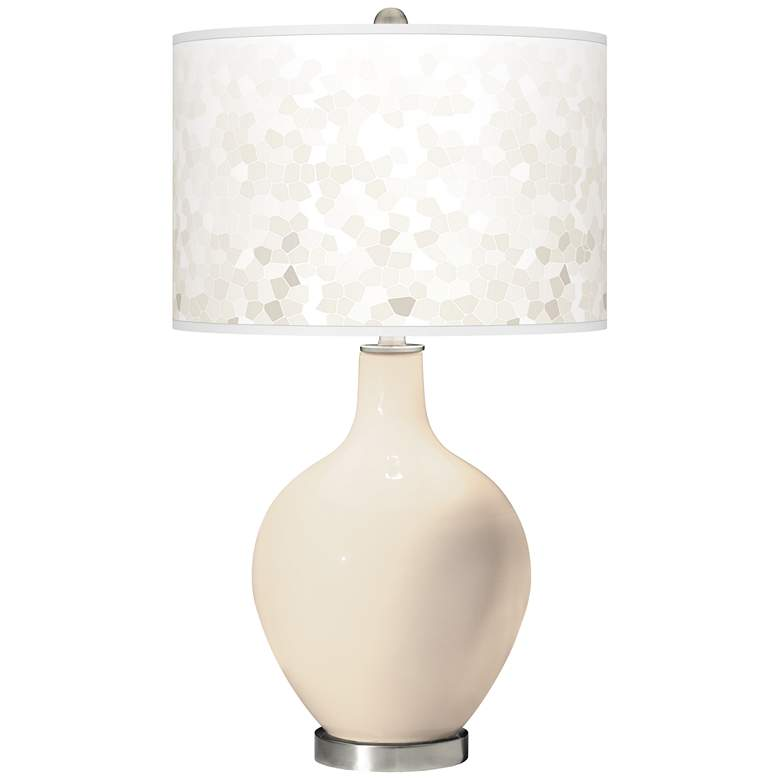 Steamed Milk Mosaic Giclee Ovo Table Lamp