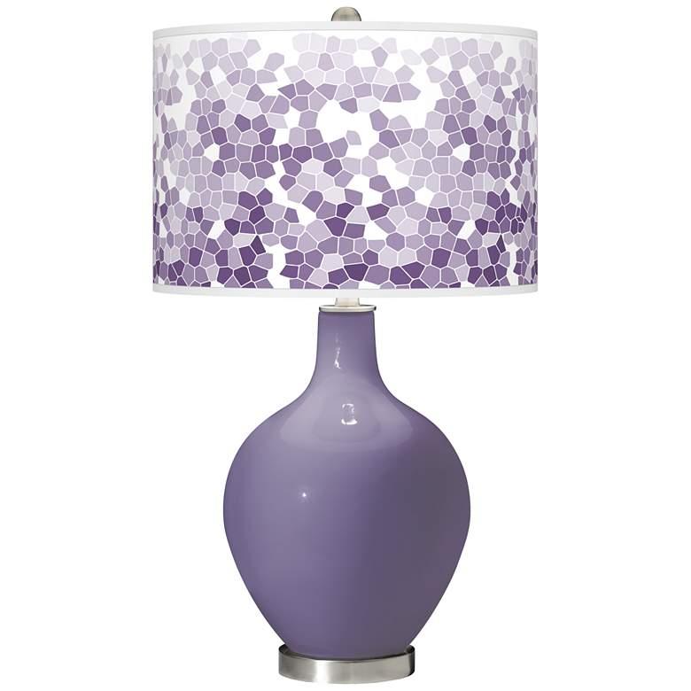 Purple Haze Mosaic Giclee Ovo Table Lamp