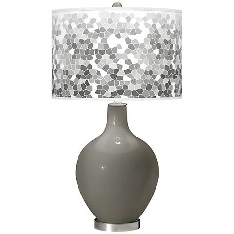 Gauntlet Gray Mosaic Giclee Ovo Table Lamp
