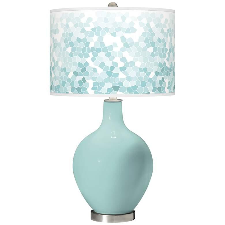 Cay Mosaic Giclee Ovo Table Lamp