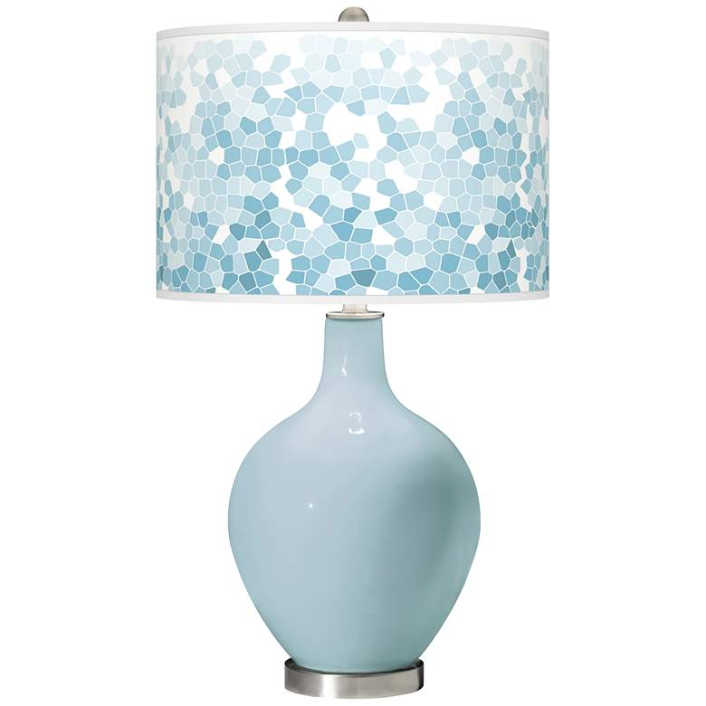 Vast Sky Mosaic Giclee Ovo Table Lamp