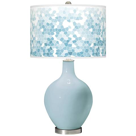 Vast Sky Mosaic Giclee Ovo Table Lamp