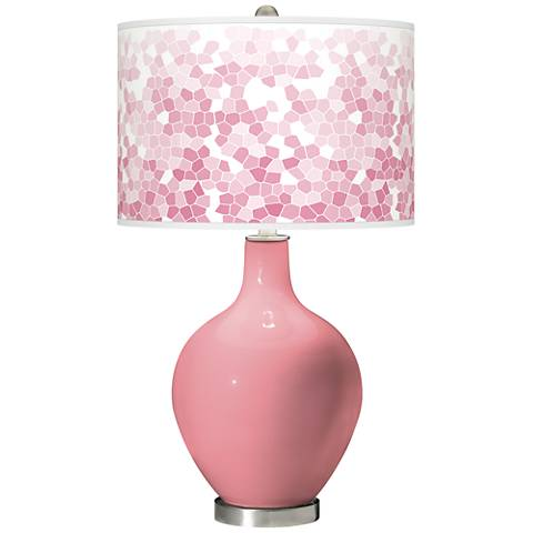 Haute Pink Mosaic Giclee Ovo Table Lamp