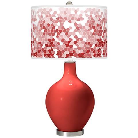 Cherry Tomato Mosaic Giclee Ovo Table Lamp