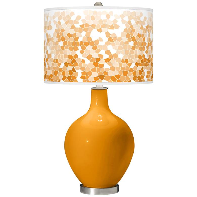 Carnival Mosaic Giclee Ovo Table Lamp