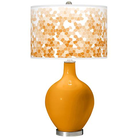 Carnival Mosaic Giclee Ovo Table Lamp