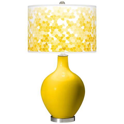 Citrus Mosaic Giclee Ovo Table Lamp