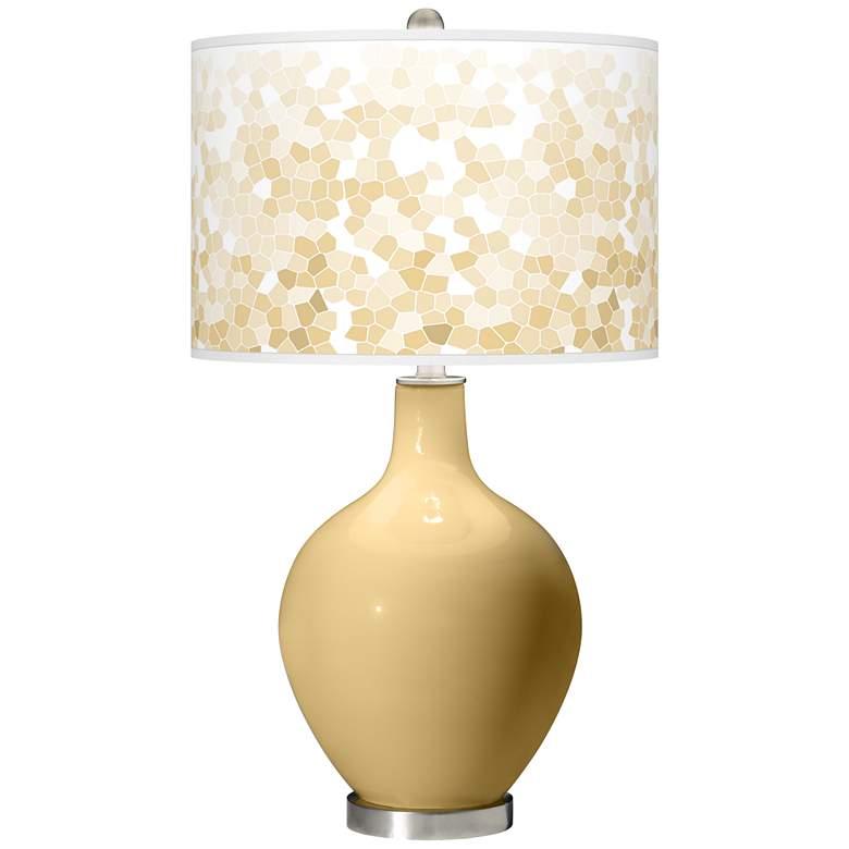 Humble Gold Mosaic Giclee Ovo Table Lamp