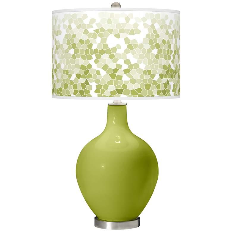 Parakeet Mosaic Giclee Ovo Table Lamp