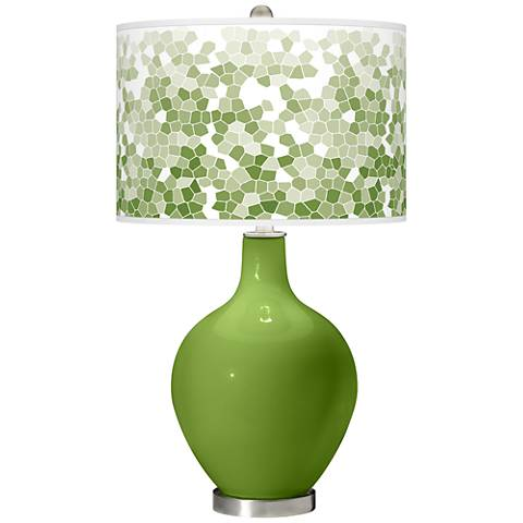 Gecko Mosaic Giclee Ovo Table Lamp