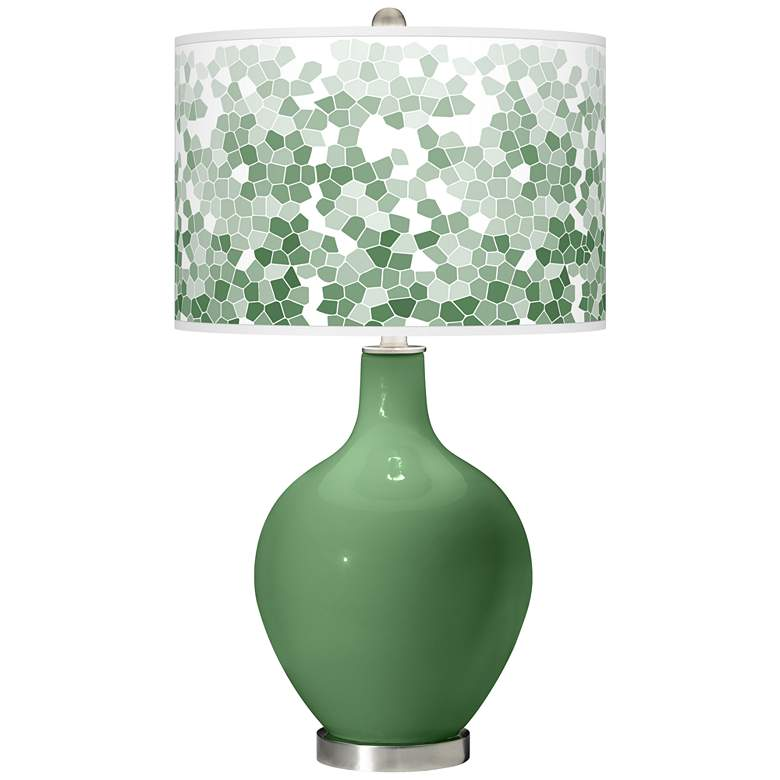 Garden Grove Mosaic Giclee Ovo Table Lamp