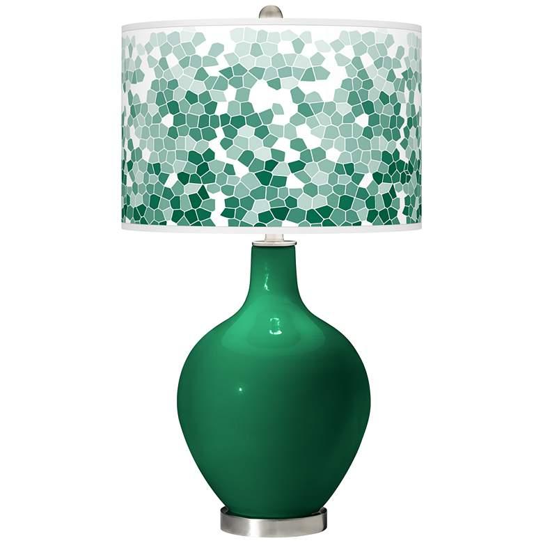 Greens Mosaic Giclee Ovo Table Lamp