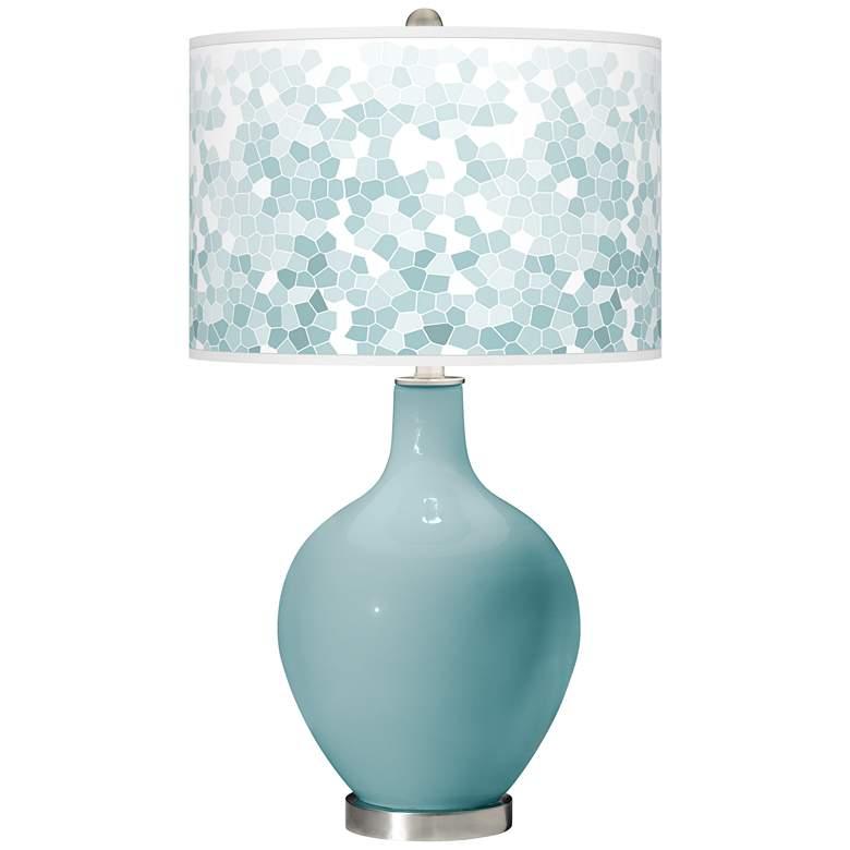 Raindrop Mosaic Giclee Ovo Table Lamp