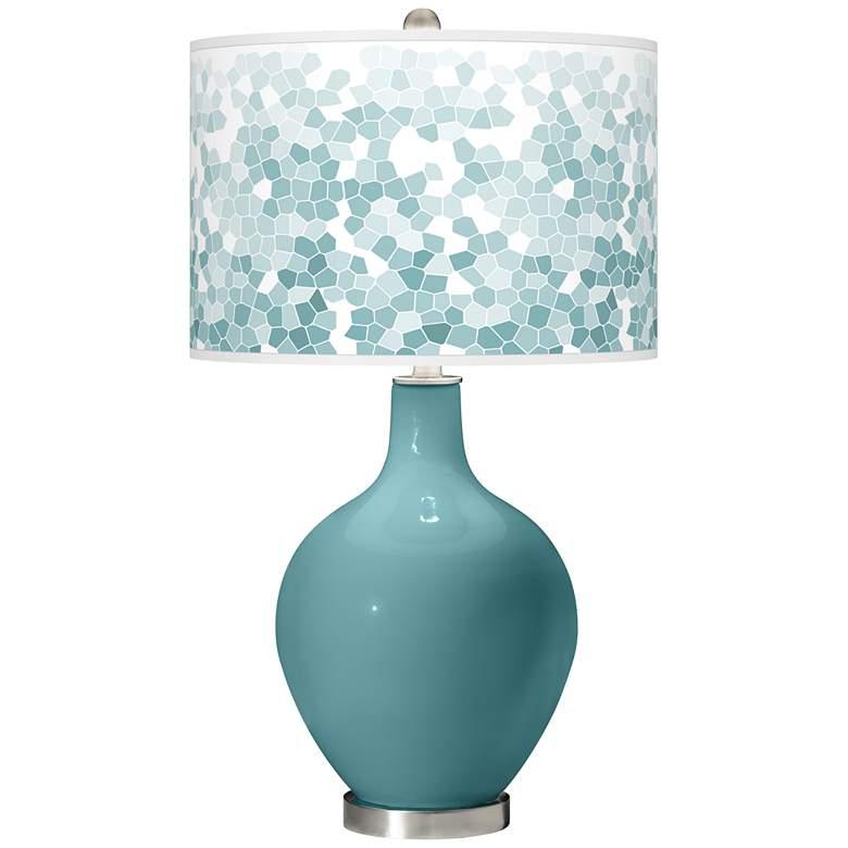 Reflecting Pool Mosaic Giclee Ovo Table Lamp