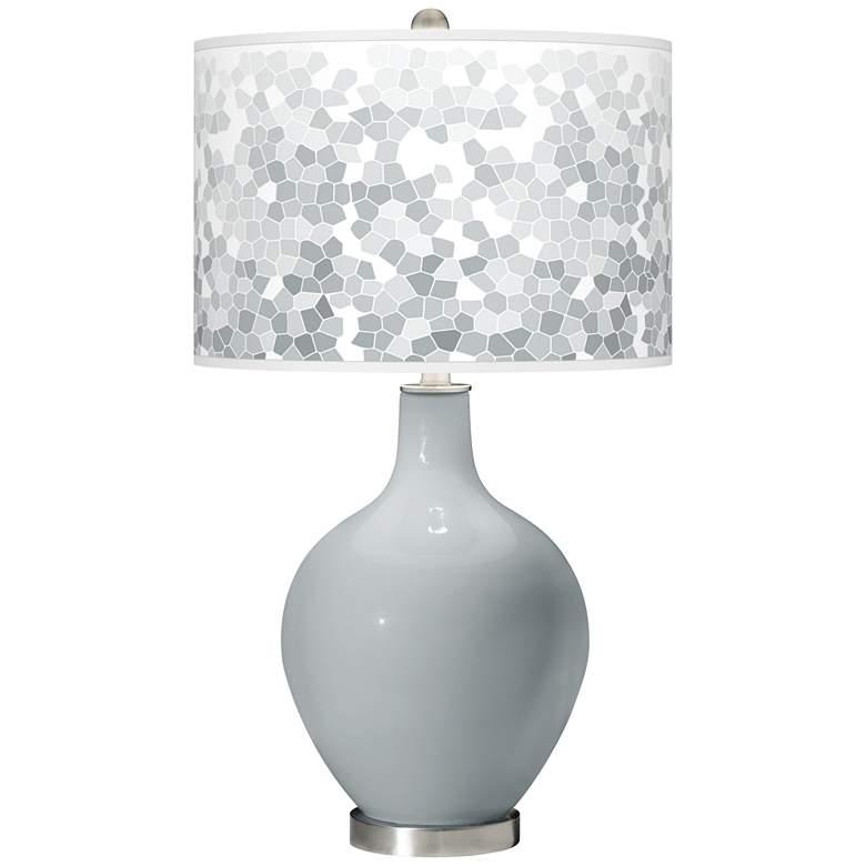 Uncertain Gray Mosaic Giclee Ovo Table Lamp