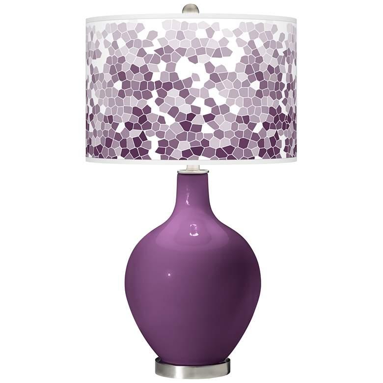 Kimono Violet Mosaic Giclee Ovo Table Lamp