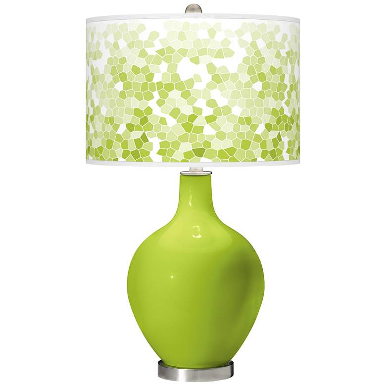 Tender Shoots Mosaic Giclee Ovo Table Lamp