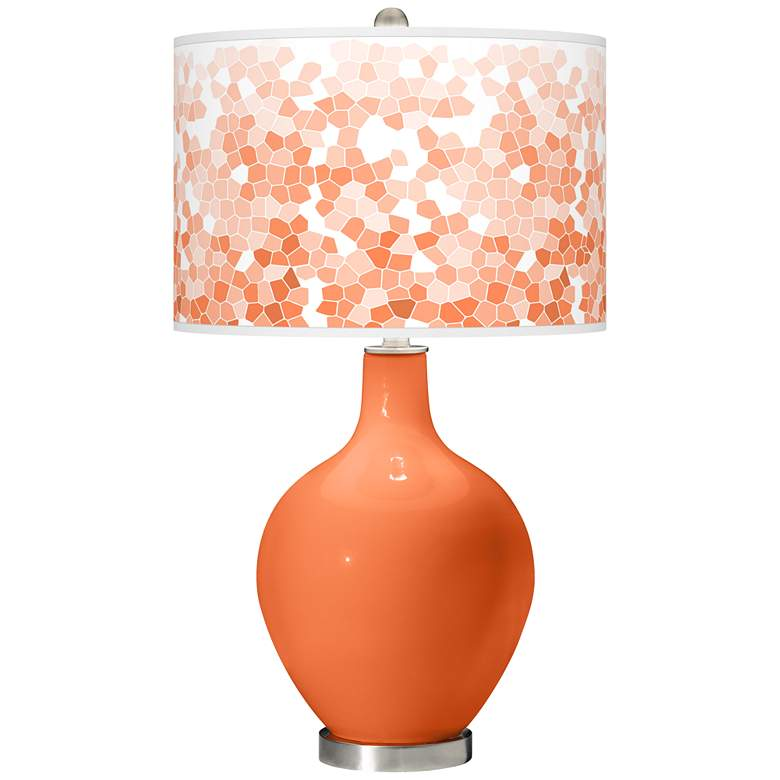 Nectarine Mosaic Giclee Ovo Table Lamp