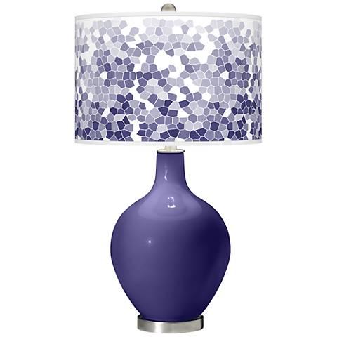 Valiant Violet Mosaic Giclee Ovo Table Lamp