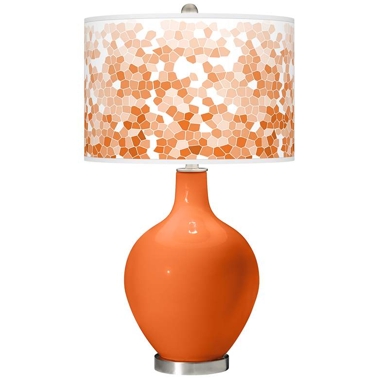 Invigorate Mosaic Giclee Ovo Table Lamp