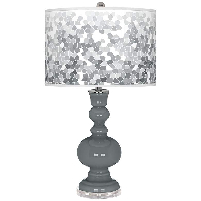Software Mosaic Giclee Apothecary Table Lamp