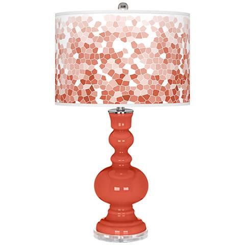 Koi Mosaic Giclee Apothecary Table Lamp