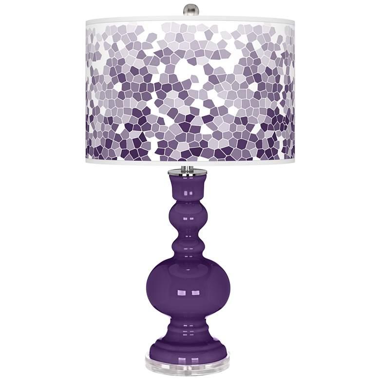 Acai Mosaic Giclee Apothecary Table Lamp