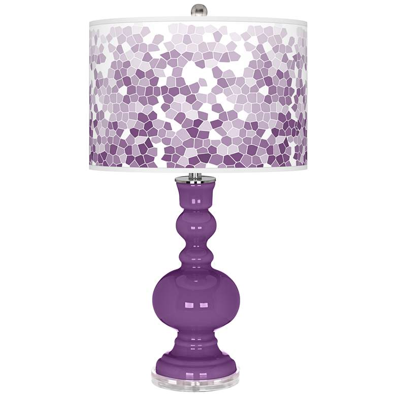 Passionate Purple Mosaic Giclee Apothecary Table Lamp