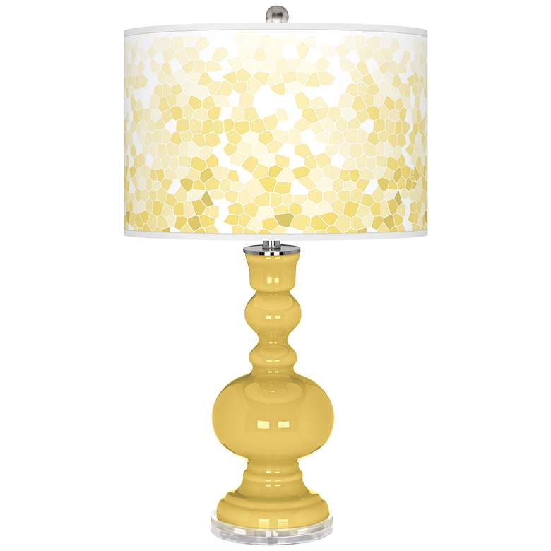 Daffodil Mosaic Giclee Apothecary Table Lamp