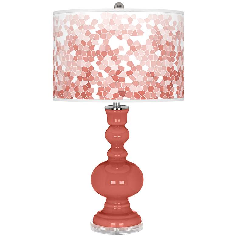 Coral Reef Mosaic Giclee Apothecary Table Lamp