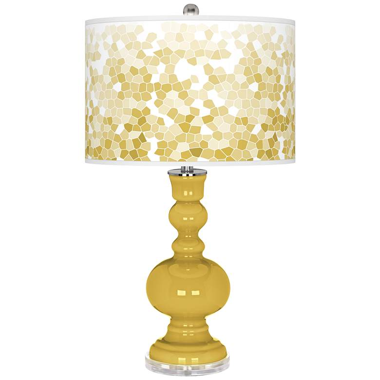 Nugget Mosaic Giclee Apothecary Table Lamp