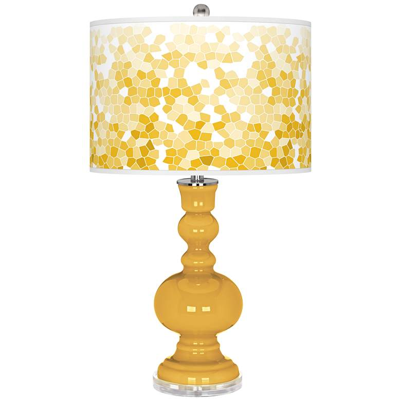 Goldenrod Mosaic Giclee Apothecary Table Lamp