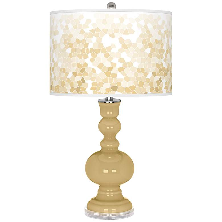 Humble Gold Mosaic Giclee Apothecary Table Lamp