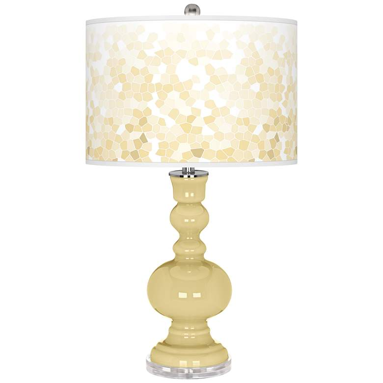 Butter Up Mosaic Giclee Apothecary Table Lamp