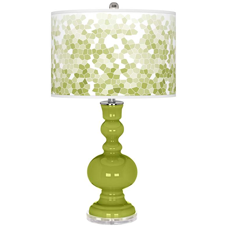 Parakeet Mosaic Giclee Apothecary Table Lamp