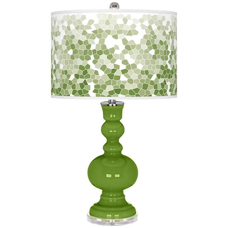 Gecko Mosaic Giclee Apothecary Table Lamp
