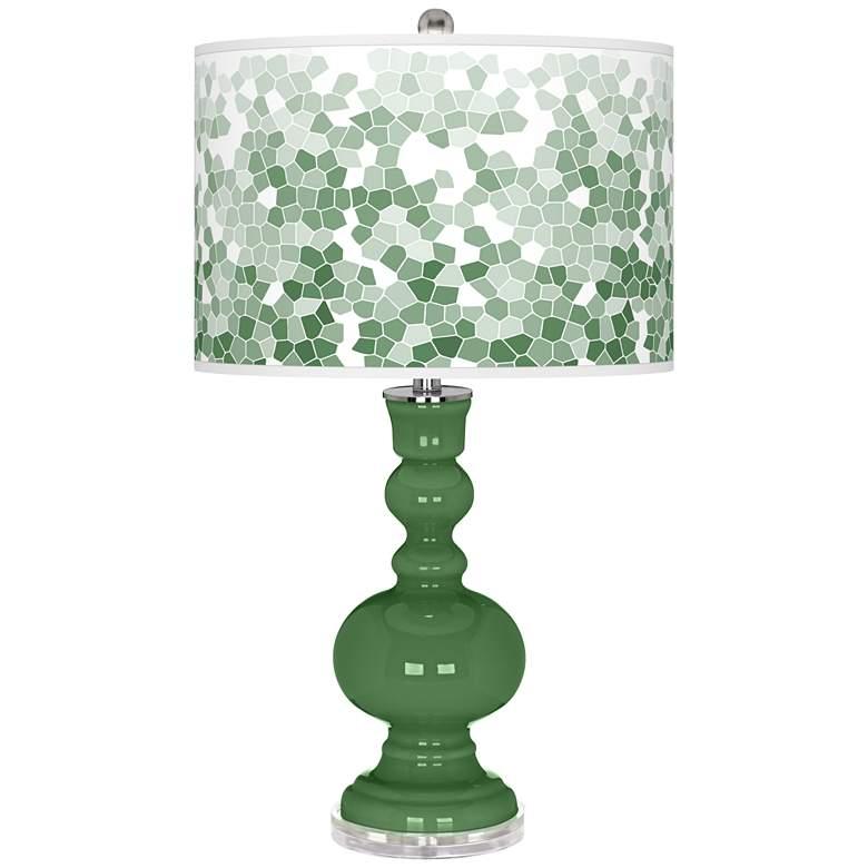 Garden Grove Mosaic Giclee Apothecary Table Lamp