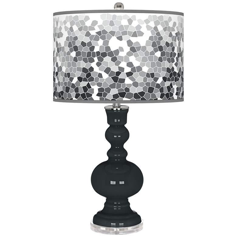 Black of Night Mosaic Giclee Apothecary Table Lamp