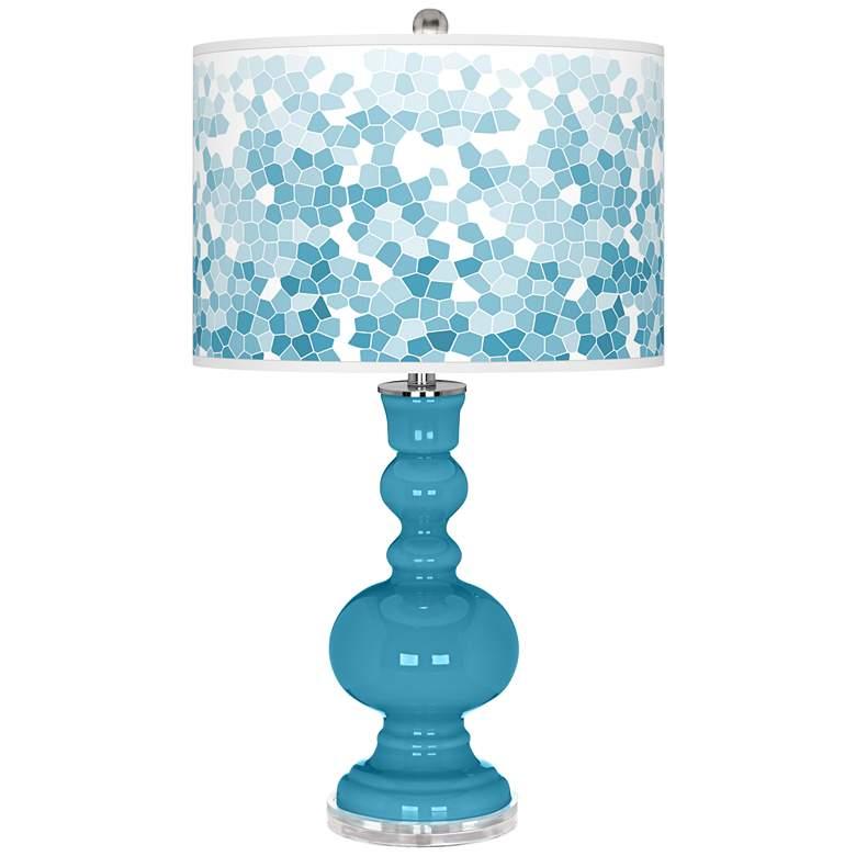 Jamaica Bay Mosaic Giclee Apothecary Table Lamp